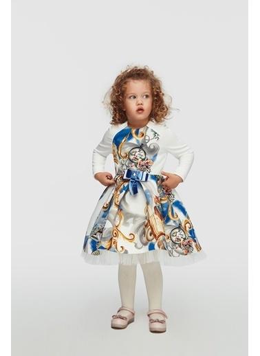 Lia Lea Kız Bebek Desenli Elbise 20Fwllb0202 Renkli